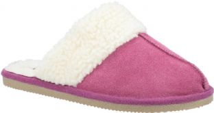 Hush Puppies Arianna Pink Suede Womens Slippers